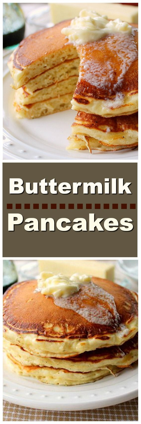 The Best Buttermilk Pancakes EVER! Fluffy, tall, soft homemade buttermilk pancakes, does it get any better than this!