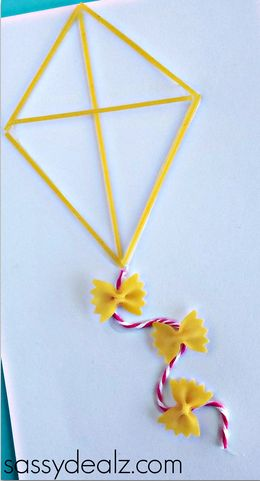 Pasta Noodle Kite Craft for Kids - Crafty Morning