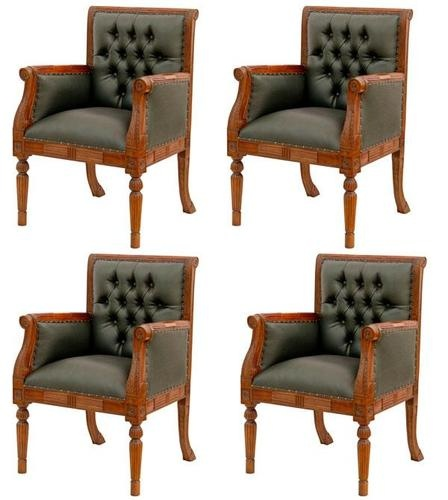 4 fauteuils chesterfield de bureau siege visiteur facon cuir vert chaises bureau pinterest. Black Bedroom Furniture Sets. Home Design Ideas