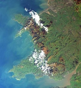 Wales from space