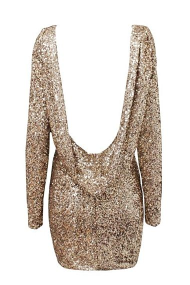 Sparkly drop backless dress short gold OMG want it so bad and it's cheap click to see how cheap
