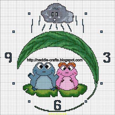 باترونات ساعات من الايتامين- cross stitch clock patterns ~ شغل ابره NEEDLE CRAFTS