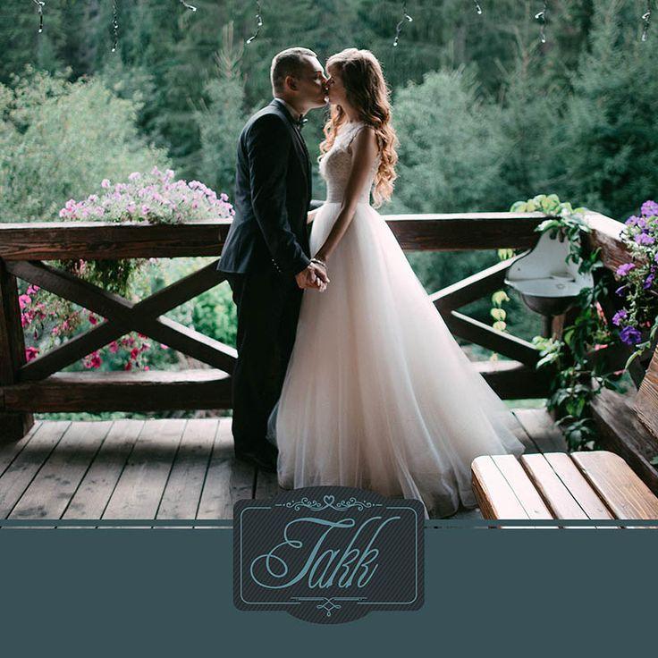 Fotokort: takkekort bryllup