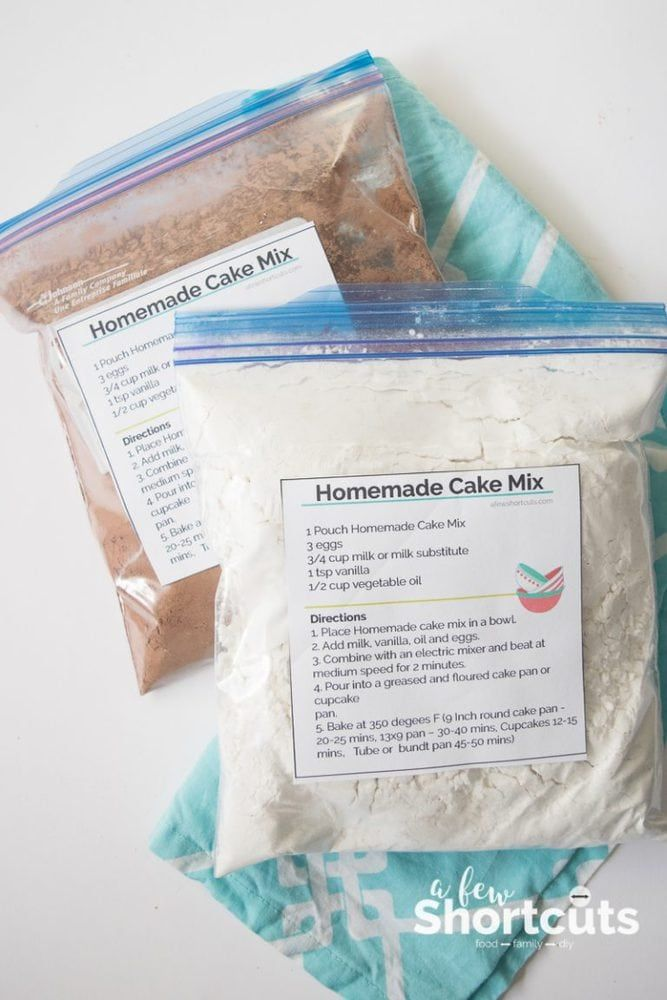 Check Out This Simple Homemade Cake Mix Recipe For Yellow Or Chocolate Cake Plus Free Printable Labels There Are Bonus Gluten Free Instructions Too