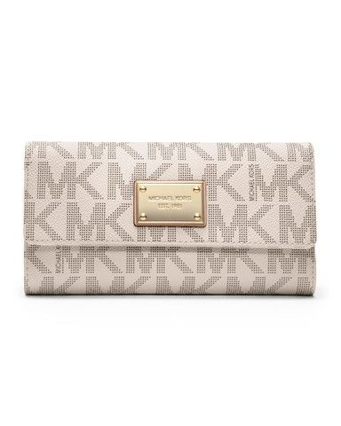 Michael Kors - Jet Set Checkbook Wallet - Vanilla Get this fabulous wallet on luxurybuddy.com!