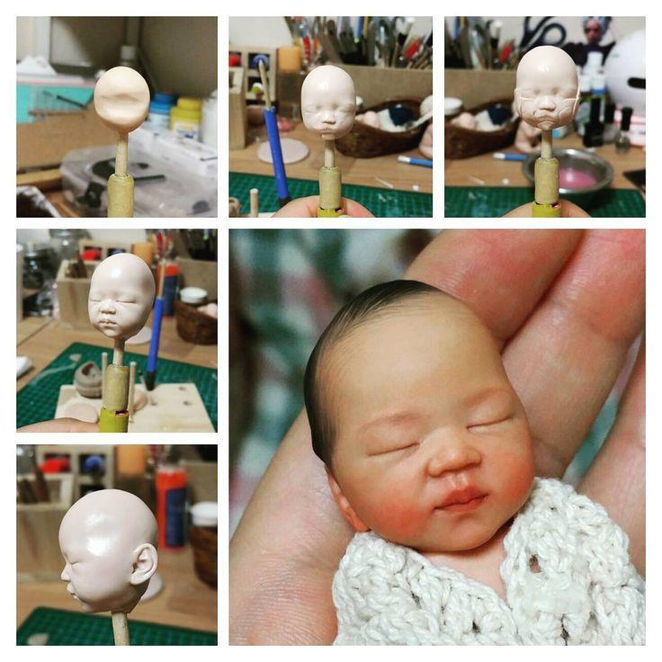 Polymer clay doll, baby doll by soon soo http://m.blog.naver.com/realbabydoll…