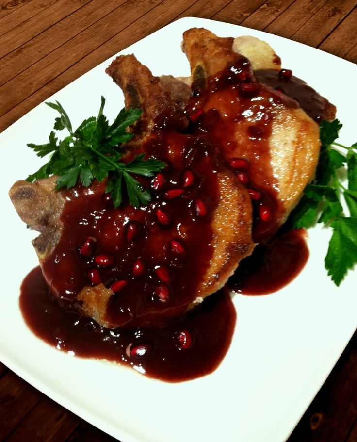 Pomegranate Pork Chops - this recipe was just meh, would not make again