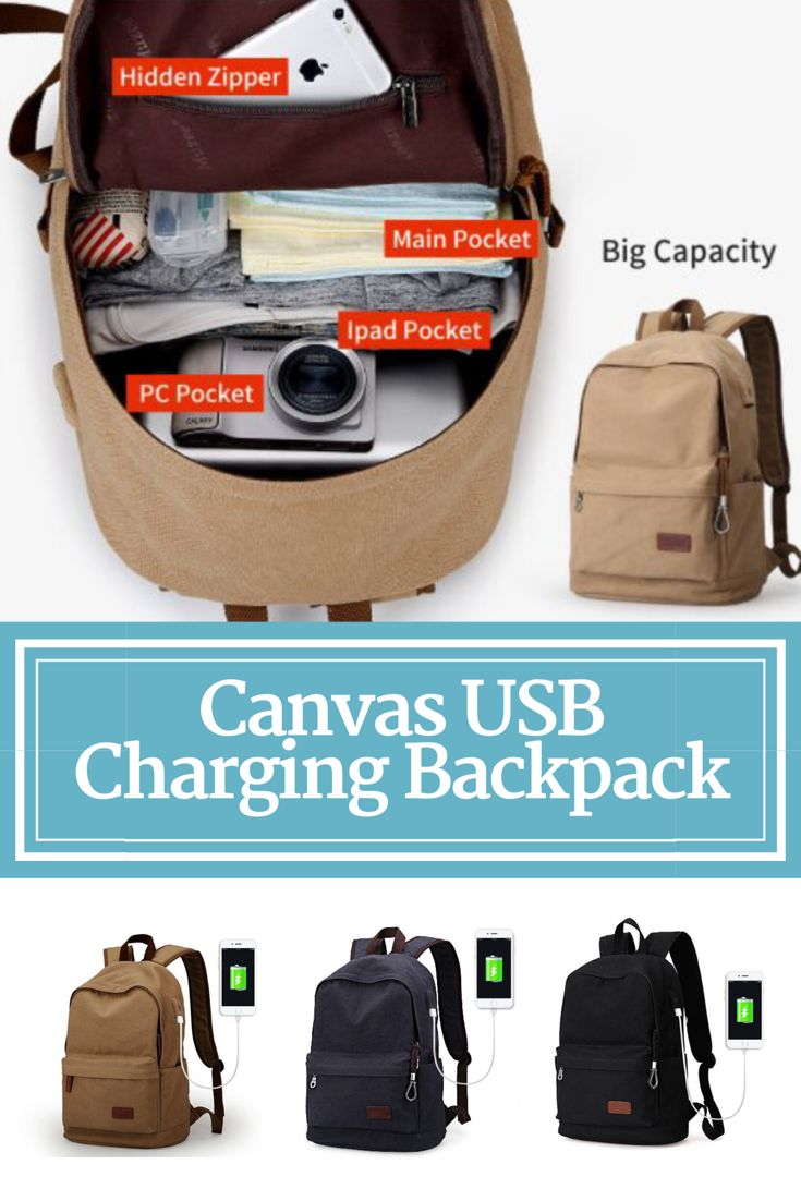 Canvas USB Charging Backpack | The Urban Upgrade | Cool Backpacks | Backpacks for Women | Women's Backpacks | Backpacks for Men | Men's Backpacks |  | Smart Backpacks | USB Charging Backpacks | Smartphone Backpacks | iPhone Charging Backpacks | Canvas Material Backpacks | Big Backpacks | Gadget Backpacks | Modern Backpacks | Backpacks for School | Backpacks for College | Backpacks for University | Holdalls | Rucksacks | Duffel Bags | Haversacks | Men's Bags | Women's Bags | Travel Bags