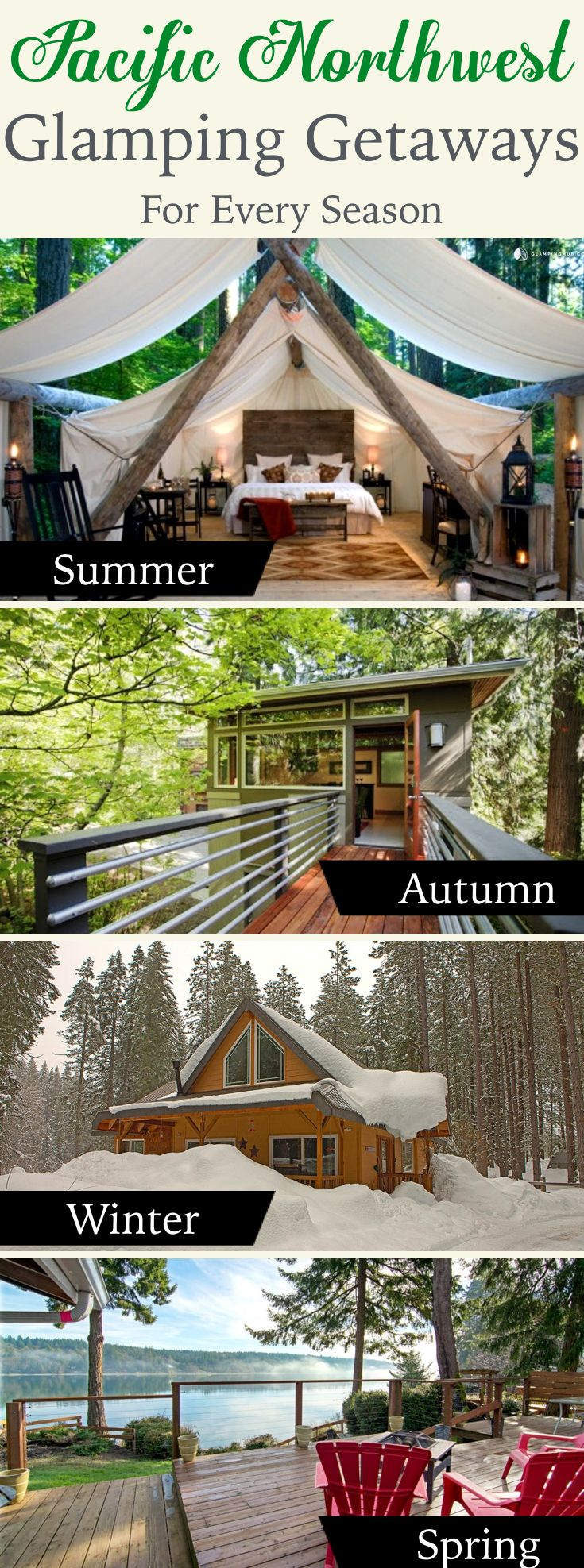 The best glamping spots in the Pacific Northwest (Oregon, Washington, etc.) for every season. @glampinghub