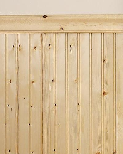 Vintage Knotty Pine Paneling: Mill Services Premium Double-Bead Knotty Pine Wainscot