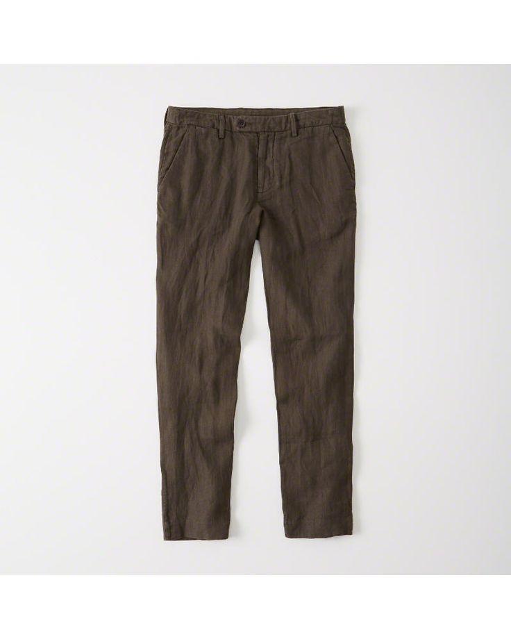 A&F Men's Linen Pants in Brown - Size 32 X 30