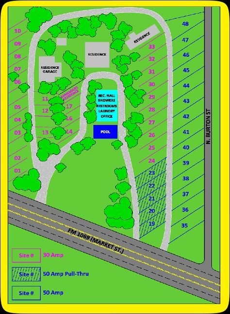 Route 1069 RV Park Layout, Rockport, Texas. $25/night 30 ...