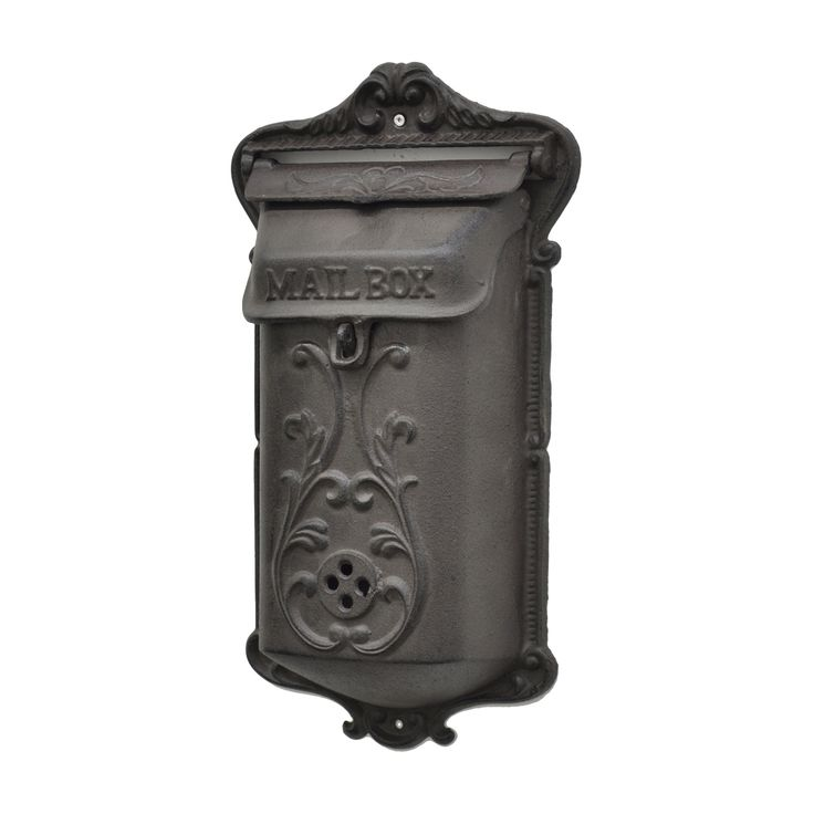 "In a world obsessed with emails and ""likes,""this cast iron mail box will harken you back to simpler times. Put it outside your house to collect the mail and you're sure to be inspired to send out a few...  Find the Victorian Iron Mailbox, as seen in the Dreamy Modern Luxe Collection at http://dotandbo.com/collections/dreamy-modern-luxe?utm_source=pinterest&utm_medium=organic&db_sku=104458"