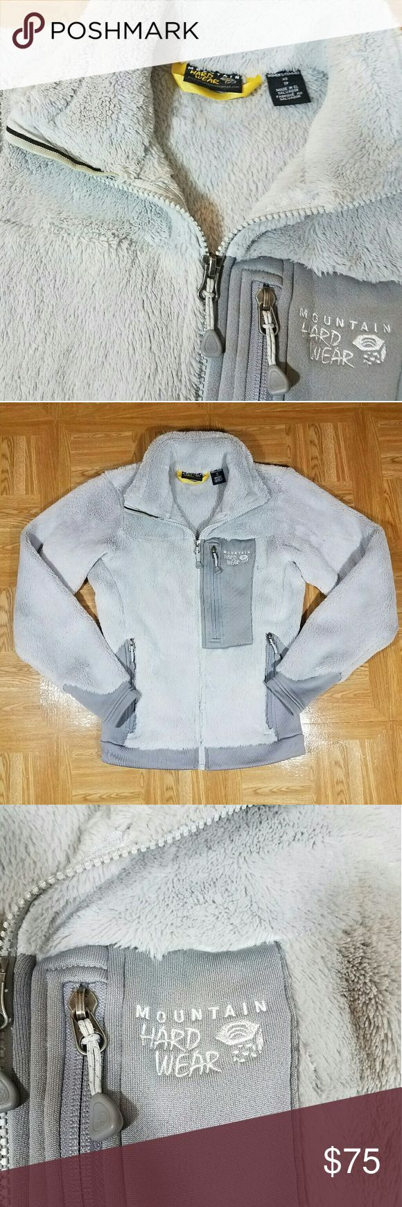 Mountain Hard Wear Monkey Jacket XS Zip Up Fleece Mountain Hardwear Monkey Jacket. Size Extra Small. Grey. Has three zippered pockets. In excellent preowned condition, no piling or holes. Very soft and warm Mountain Hard Wear Jackets & Coats