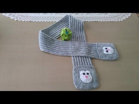 Bufanda con bolsillos para niños - YouTube
