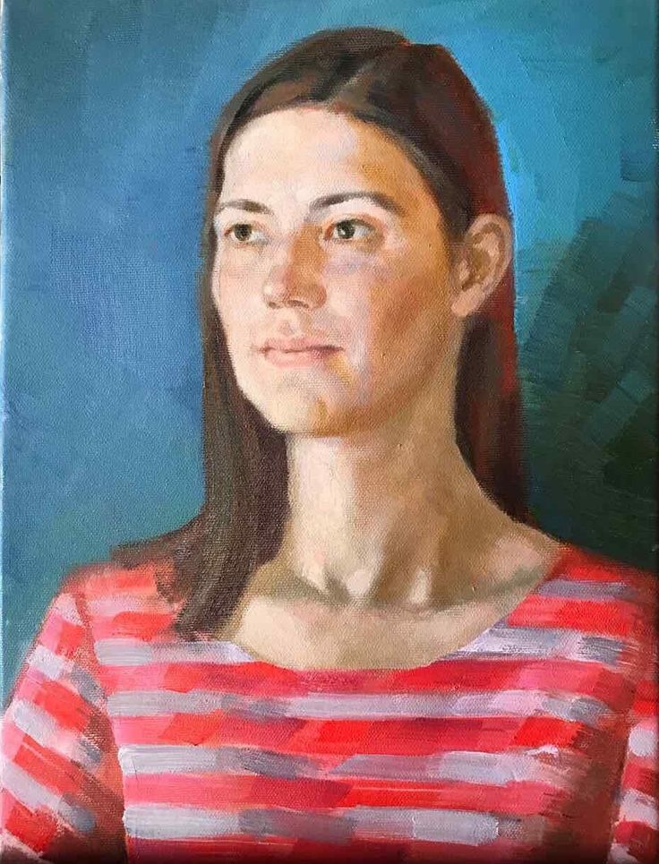 A portrait painting by our student at the Florence Academy of Russian Art