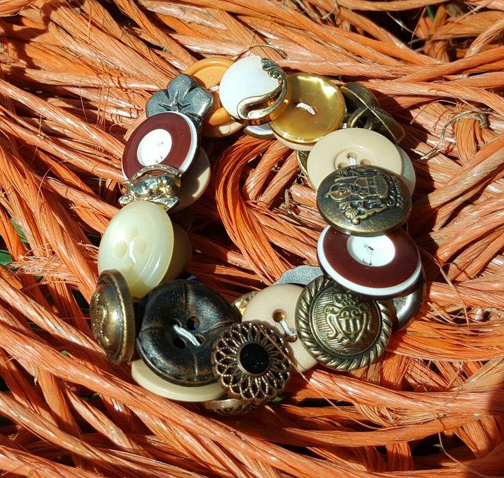 Stretch button bracelet