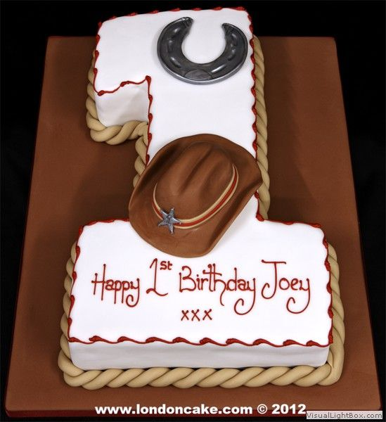 Cowboy Themed Birthday Cakes | _cowboy_themed_1st_birthday_cake_with_sugarpaste_horse_shoe,cowboy ...