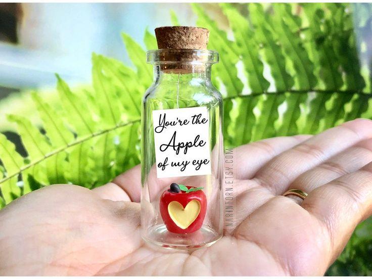 Thoughtful Birthday Gift Apple of my eye Birthday Gift for Her ANNIVERSARY Girlfriend Gift cute Vegan Personalized Love Card Daughter Gift