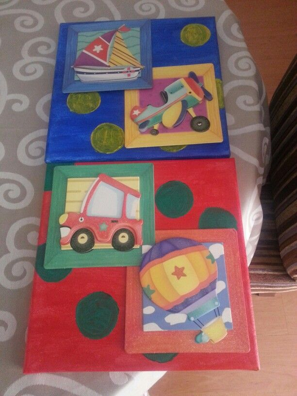 Boys wall canvases