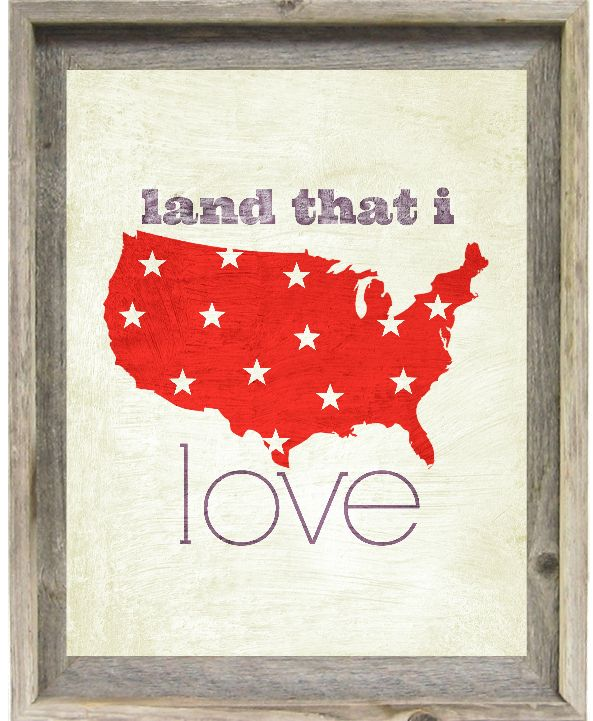 4th of July Printable: I really like this one/and in the vintage frame-