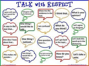accountable talk: talk with respect