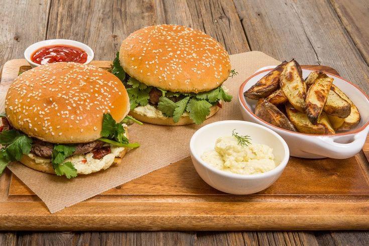 Бургер «Три сыра» рецепт с фото