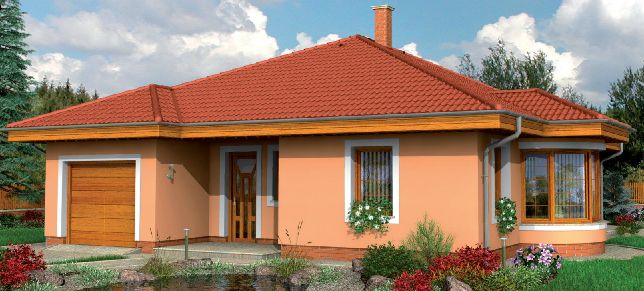 Plano de casa estilo chalet sencilla de 3 dormitorios for Planos de chalets