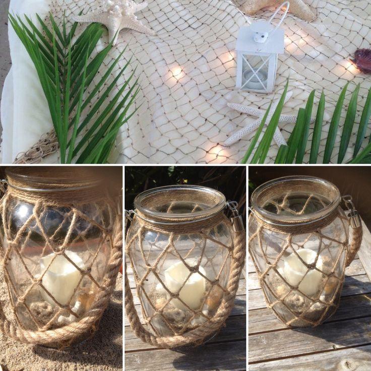 Beach wedding decorations,coastal Lantern,Tealight Candle Lantern,nautical candle holder,Hurricane Lantern ,Hanging Lantern,wedding candle by BellasBloomStudio on Etsy