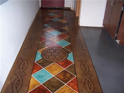 Painting Indoors Cement Floor Concrete Floors