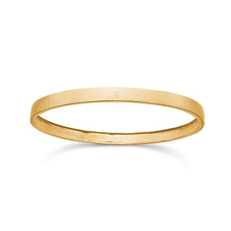14 kt. guld armring med diamant, By S