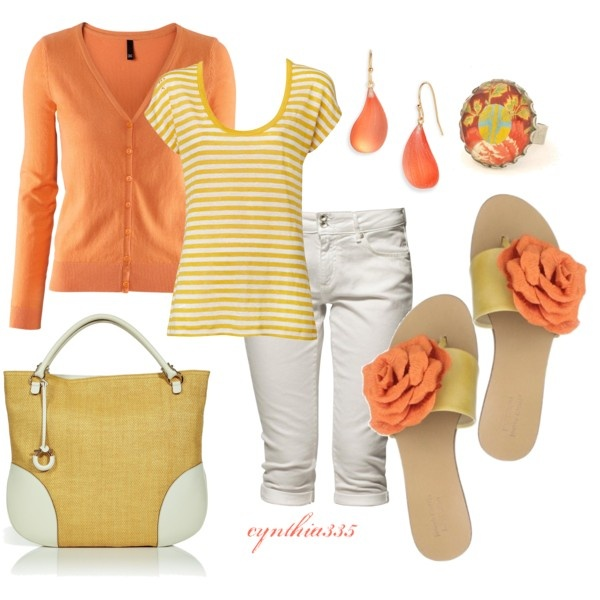 Outfit: Fashion, Summer Outfit, Style, Clothes, Cynthia335, Spring Summer, Polyvore, Closet