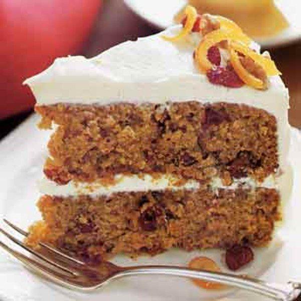 Sweet-Potato Layer Cake with Orange-Cream Cheese Frosting