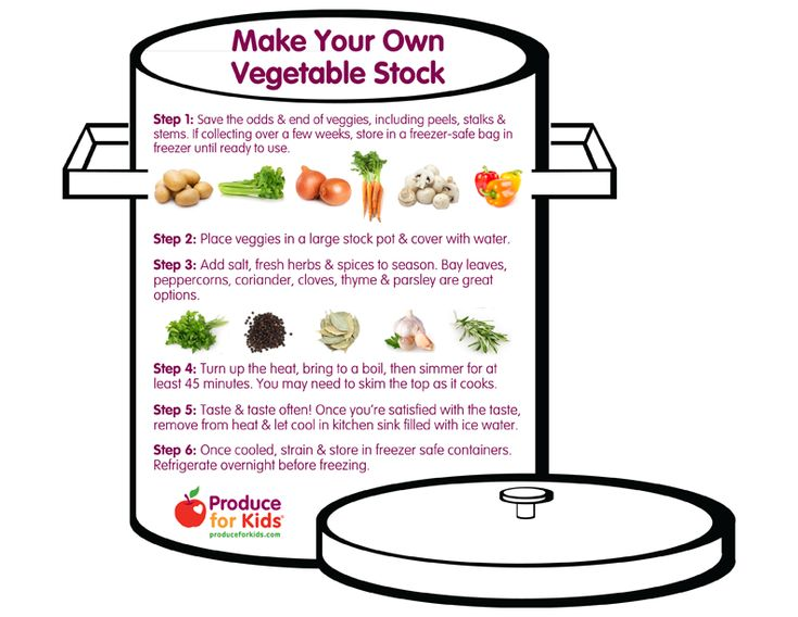 Make Your Own Vegetable Stock - A step-by-step how-to for making and freezing your own stocks using leftover veggies! @produceforkids