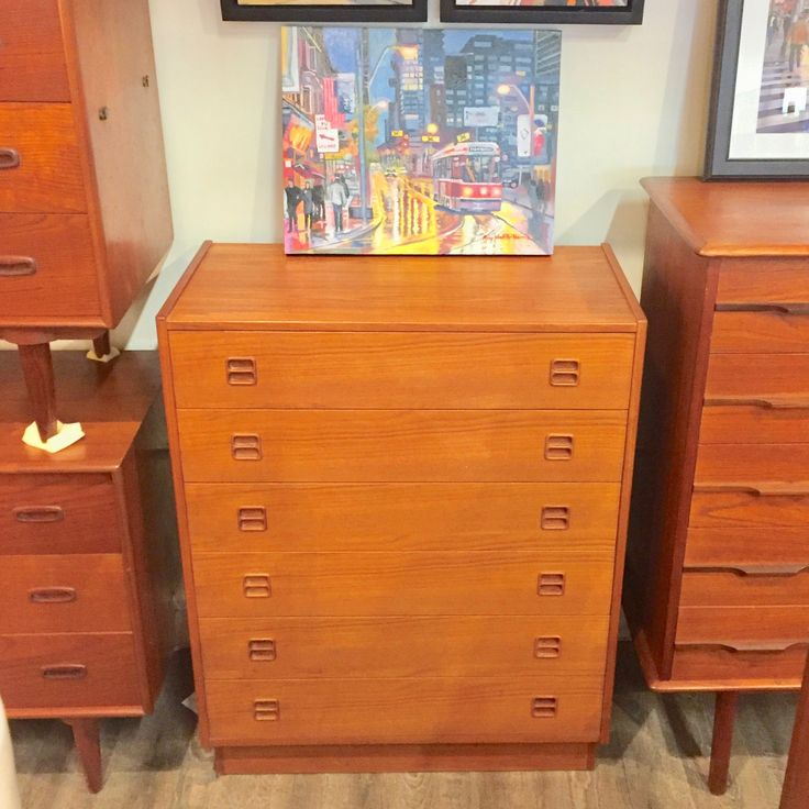 Designers (and those who love great design:)   More awesomeness Narrow Danish Mid....   You can check it out here: http://vintagehomeboutique.ca/products/narrow-danish-mid-century-teak-6-drawer-tall-dresser?utm_campaign=social_autopilot&utm_source=pin&utm_medium=pin