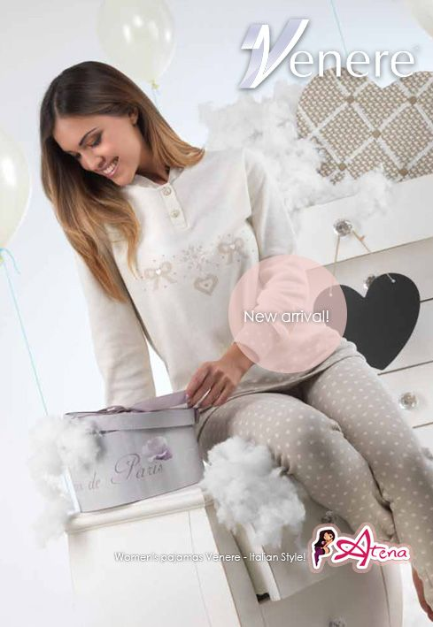 Pajamas -shop online!   The softness of the pajamas is made of comfy and warm punto milano fabric. Pajamas Venere Fall Winter 2014/2015 collection. Delicate color Wool / Hazel. Venere for the Italian Style. #pyjamas #pjset #womenspyiama http://www.underwearonlineatena.com/women-s-pajamas/1232-women-s-pyjama-venere-5622.html