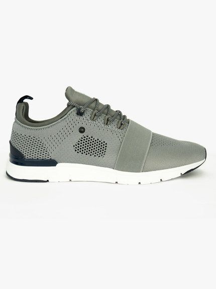73cc2c110bf631 Tommy Bowe Concept Three Knitted Strapped Trainer Ash