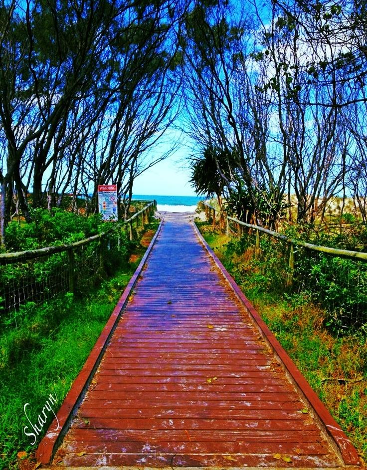 Board walk to the beach at Broadbeach
