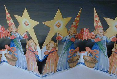 Rad: Lucia med stjärna / Julpynt.