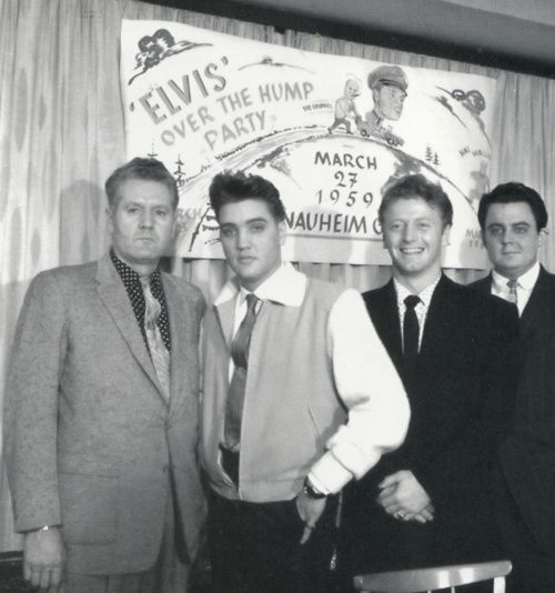 Elvis' hump party in Germany: Half way through his time in the service
