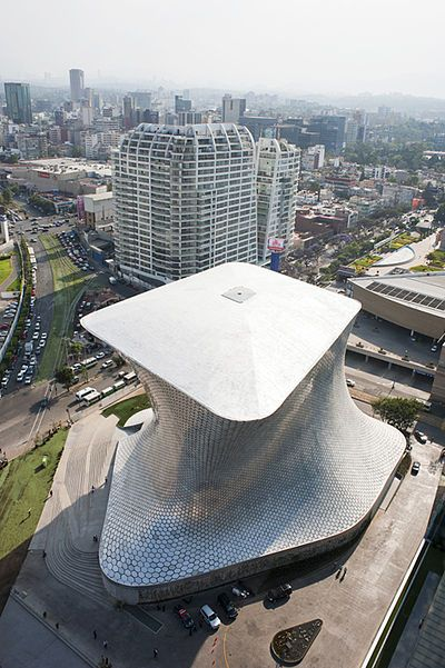 Museo Soumaya Ciudad de Mexico. This is a private museum. Non profit cultural institution with two museum buildings. It was established in 1994.