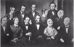 Members of the Pennsylvania Abolition Society, with well-known abolitionist William Lloyd Garrison seated bottom right.