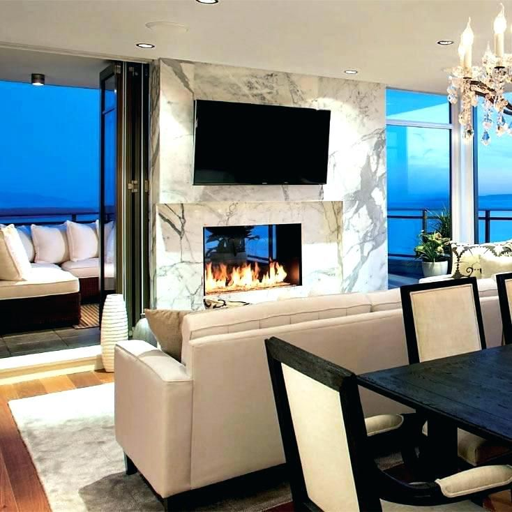 Architecture Two Sided Gas Fireplace