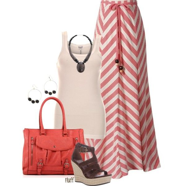 So cute, so summery, so girly.  Colors are fabulous, chevron skirt is darling......must have for your wardrobe......Ann-Marie