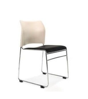 A stylish versatile linkable and stackable visitor chair. The Maxim chair is an all purpose, robust stacker chair ideal for use in a variety of applications including conference, meeting room or educational seating #seated #maxim #staking #chair seated.com.au