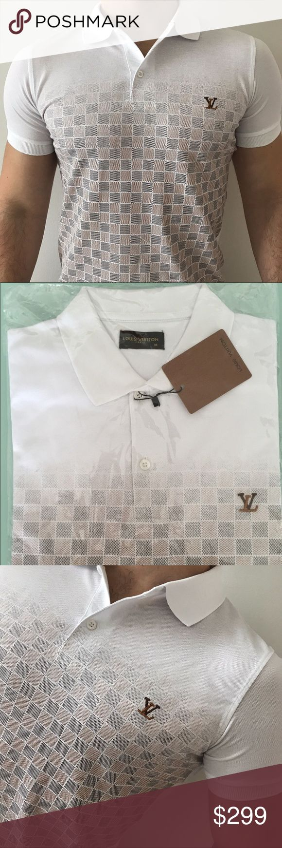 2017 Louis Vuitton Polo 💯% Cotton and runs True size. You are going to love it once you wear it! Louis Vuitton Shirts Polos