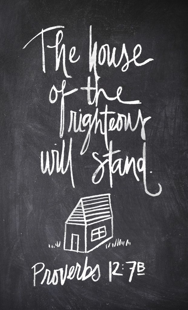 The wicked die and disappear, but the family of the godly stands firm. -Proverbs 12:7, NLT