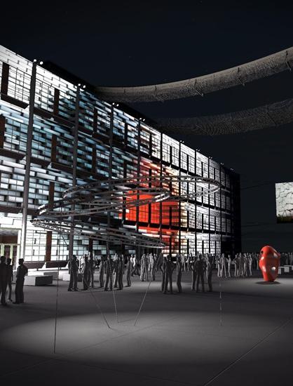 Další vizualizace budovy 14/15 Baťova Institutu ve Zlíně. Máme se každopádně na co těšit.