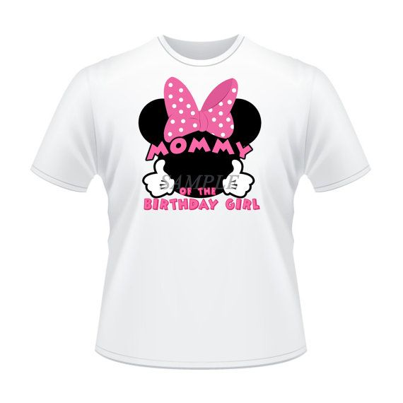 Tshirt Disney Minnie Mouse Iron On Transfer Mom Of The Birthday