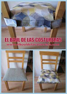 Con estas fundas para los asientos, no tienes que comprar sillas nuevas para el comedor #Singer #amocoser #yolohice
